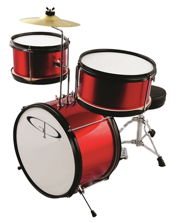 Gp Percussion3 Piece Junior Drumset Red Gp40rd Music Gear Deals