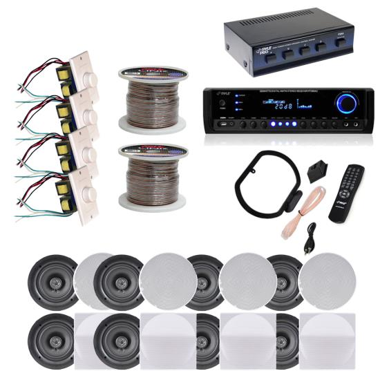 office speaker system. Pyle 200 Watts Home, Office Or Restaurant Bluetooth Complete Speakers System With Digital Stereo Receiver, In-Wall / In-Ceiling 6.5\u2033 Two Ways Speaker S